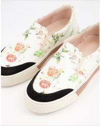 Fiorelli – Vita – Sneaker zum Reinschlüpfen mit Blumenmuster - Mehrfarbig