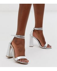 ASOS Minimalistische Sandalen Met Hakken - Metallic