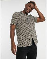 TOPMAN - Shirt With Monogram Print - Lyst