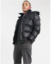 Criminal Damage Polar Puffer Jacket - Black