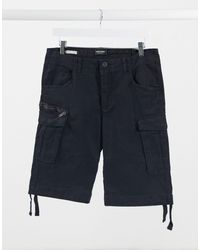 Jack & Jones – Intelligence – e Cargo-Shorts - Schwarz