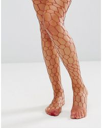 ASOS DESIGN - Asos Hexagon Fishnet - Lyst