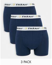Farah Confezione da 3 boxer aderenti - Nero