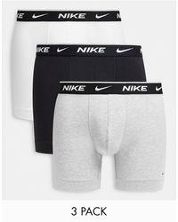 Nike Набор Из 3 Серых Боксеров-брифов -многоцветный