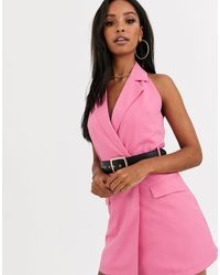 4th & Reckless 4th + Reckless Blazer Dress With Belt - Pink