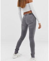 Salsa Vormende Push-up Skinny Jeans - Grijs