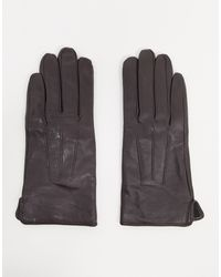 Barneys Originals Barney's Originals Real Leather Gloves With Touch Screen Compatibility - Multicolour