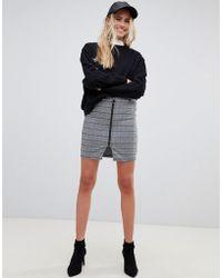 Pieces - Dina Check Pencil Skirt - Lyst