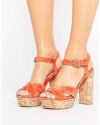 Faith - Leela Platform Heeled Sandals - Lyst