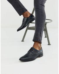 Walk London Черные Кожаные Туфли Дерби -черный