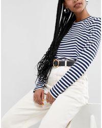 ASOS Hammered Gold Circle Waist & Hip Jeans Belt - Black