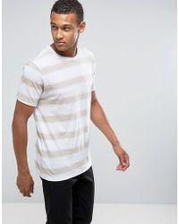 Mango - Man Striped T-shirt In Ecru - Lyst