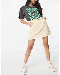 Dickies Shongaloo Cord Skirt - White