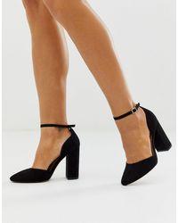 ASOS Pleasant High Block Heels - Black