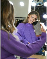 Monki Фиолетовый Джемпер С Высоким Воротником - Пурпурный