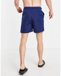Fred Perry Contrast Panel Swim Shorts - Blue