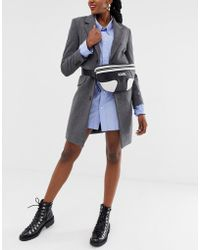 Karl Lagerfeld Riñonera con diseño monocromático y logo - Negro