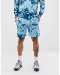 Another Influence Pantaloncini della tuta tie-dye in coordinato - Blu