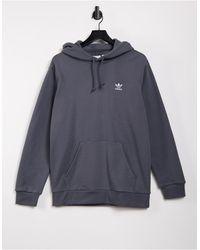 adidas Originals - Темно-серый Меланжевый Худи С Маленьким Логотипом Essentials - Lyst