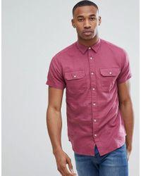 Jack & Jones - Premium Short Sleeve Shirt With Double Pockets - Lyst