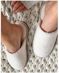 Vero Moda Кремовые Слиперы -белый - Естественный