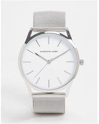 Christin Lars Adjustable Stainless Steel Mesh Watch - Metallic