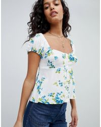 Free People - Close To You Printed Top - Lyst