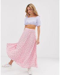 Résumé Resume Noelle Floral Midi Skirt - Pink