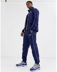 Nike Survêtement zippé - Bleu marine