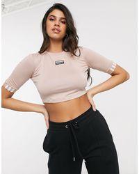 adidas Originals Ryv Cropped T-shirt - Natural