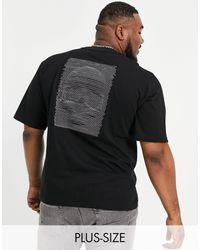 Bolongaro Trevor Plus Emboidery Back Mock Neck T-shirt - Black
