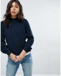 Abercrombie & Fitch - Puff Sleeve Turtle Neck Jumper - Lyst