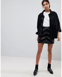 SELECTED | Femme Leather And Suede Mini Skirt | Lyst