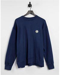 Nudie Jeans Lukas - Sweatshirt Met Logo - Blauw
