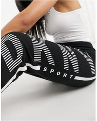 DKNY Cuffed Logo jogger - Black