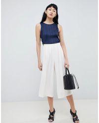 ASOS - Design Tailored Large Pleat Culotte - Lyst