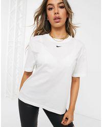 Nike Central Swoosh Oversized White T-shirt - Black