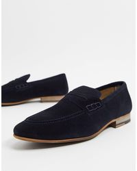 TOPMAN Suede Loafers - Blue
