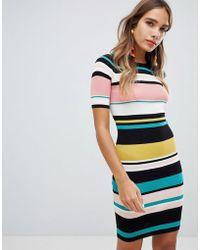 New Look - Multi Stripe Dress - Lyst