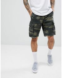Hollister Camo Cargo Shorts - Green
