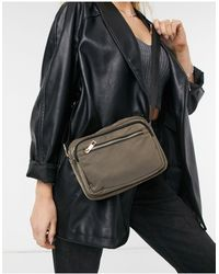 Miss Selfridge Nylon Camera Bag - Green