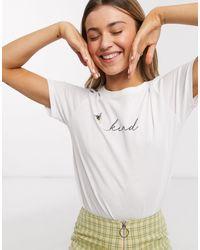 New Look Bee Kind Slogan Tee - White