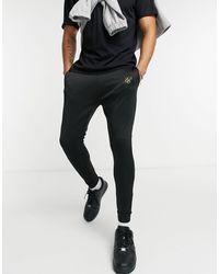 SIKSILK Element Muscle Fit Cuffed Hem sweatpants - Black