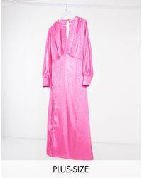Flounce London Эксклюзивное Розовое Платье Макси -розовый