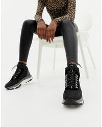 Bronx - Black Leather Chunky Trainer Boot - Lyst