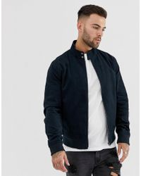 New Look Harrington Jacket In Navy - Blue