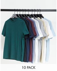 ASOS 10 Pack Organic T-shirts With Crew Neck - Multicolour