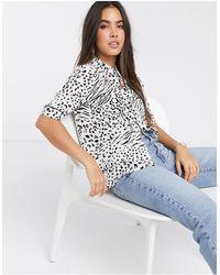 Ichi Рубашка С Короткими Рукавами И Леопардовым Принтом -мульти - Многоцветный