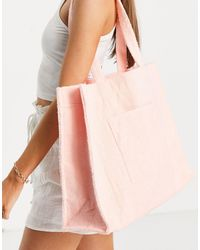 South Beach Towelling Tote - Pink
