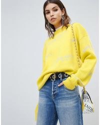 Miss Sixty - Wool Knit With All Over Logo - Lyst